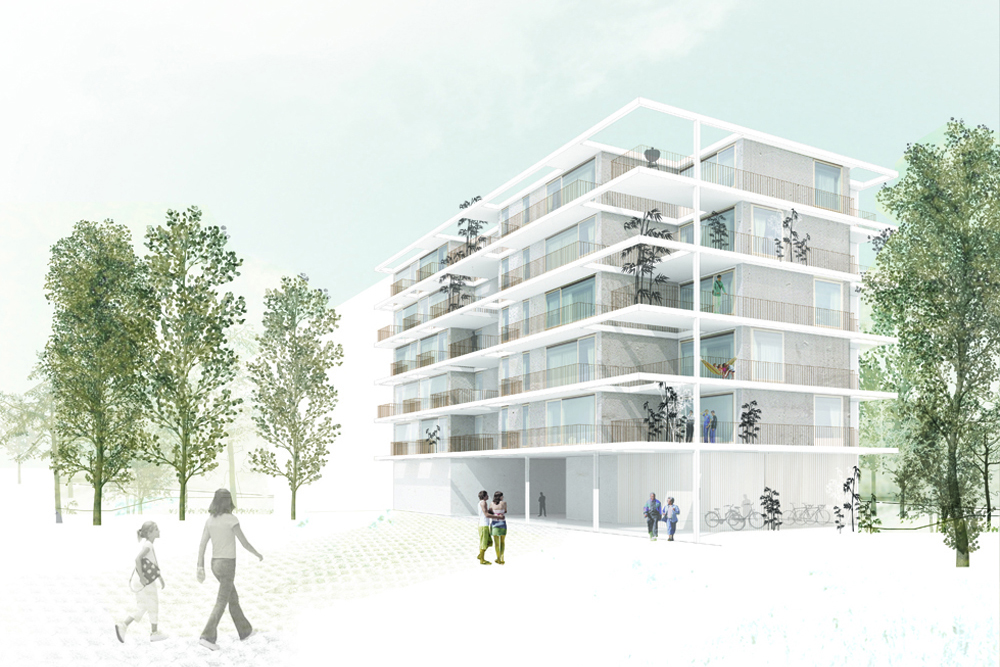 NOMOS + PYO arquitectos > 1r premio Concurso Edificio de Viviendas ...