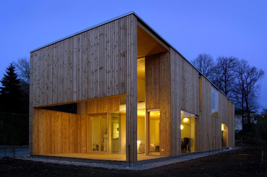 Architetti tibiletti associati casa duplo hic arquitectura - Finestre con pannelli solari ...