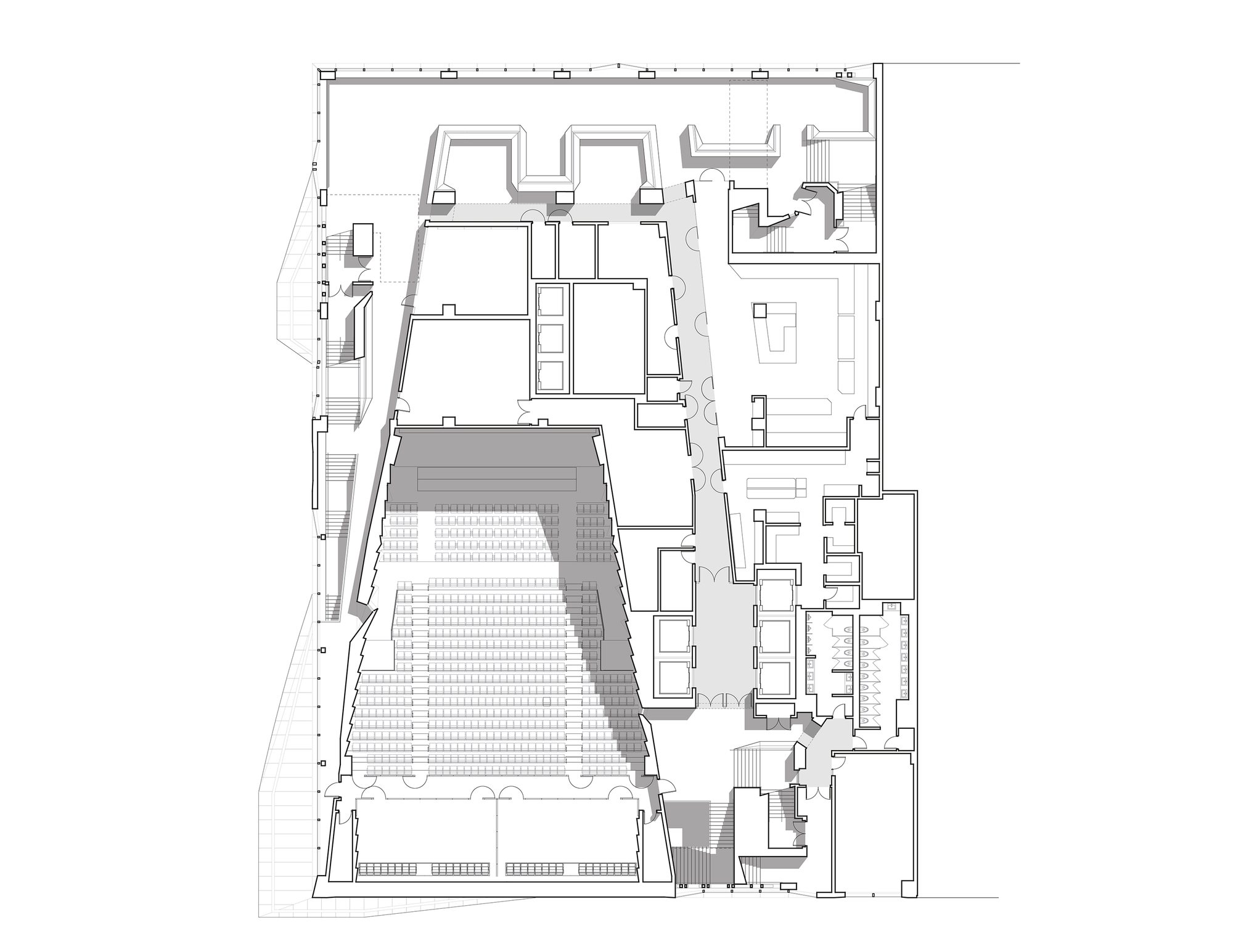 plan university skidmore floor center owings merrill archdaily architects