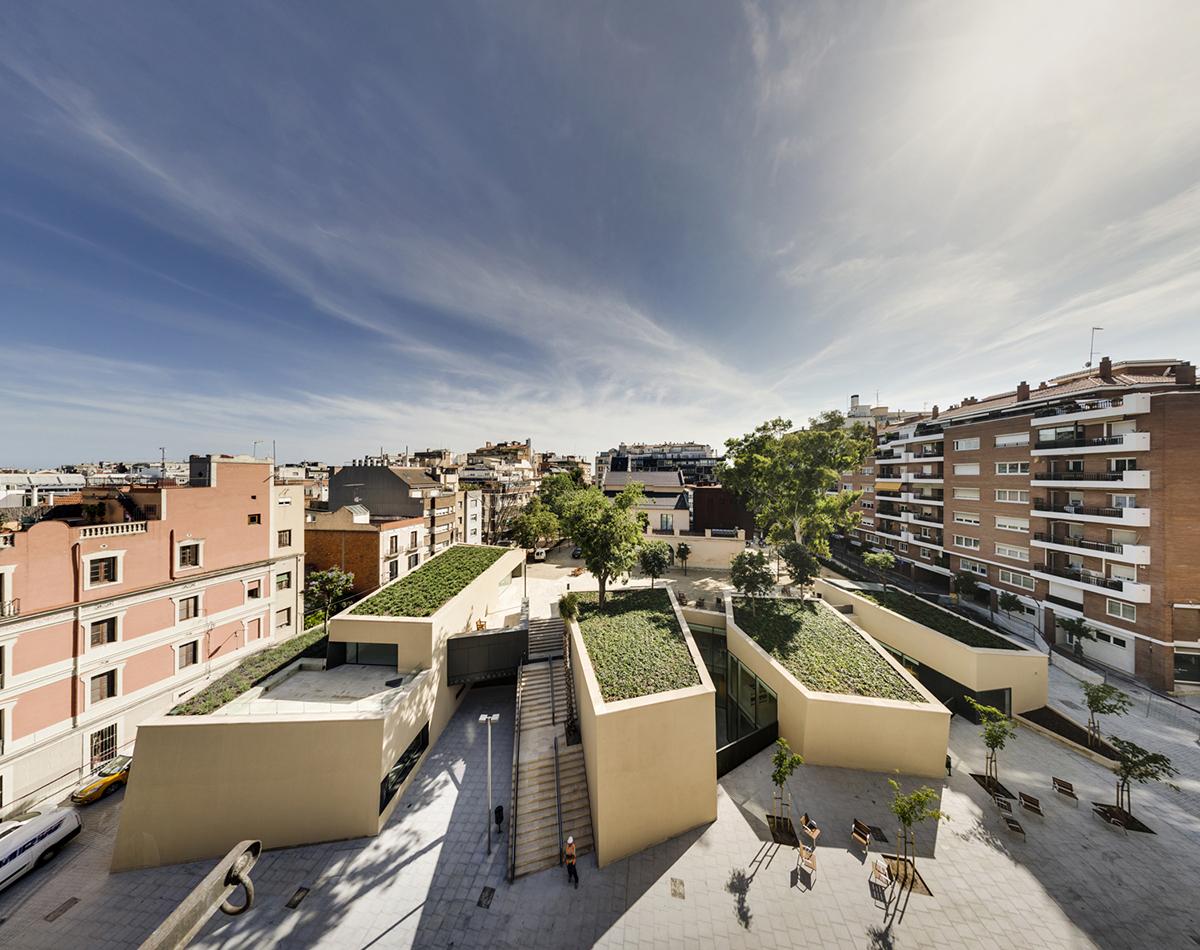 bcq arquitectes biblioteca joan maragall barcelona On biblioteca arquitectura
