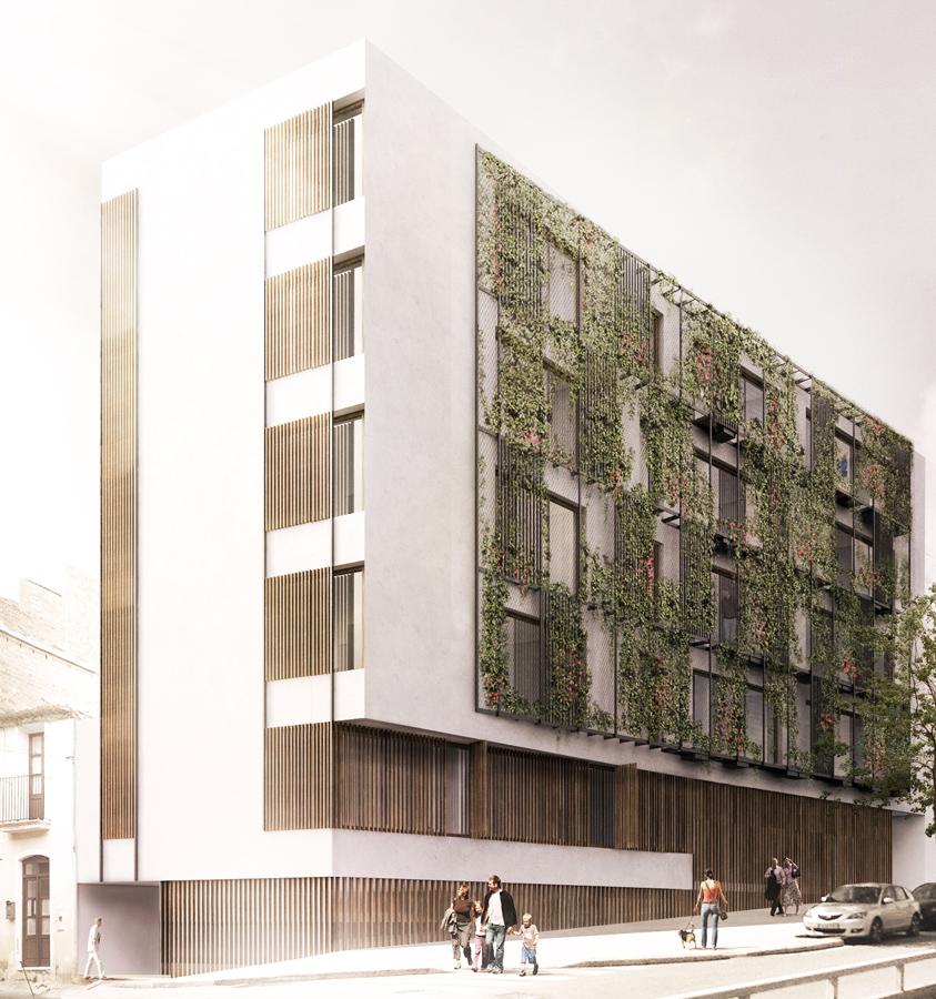 Terradas Arquitectos > Edificio de viviendas en Via Augusta ...