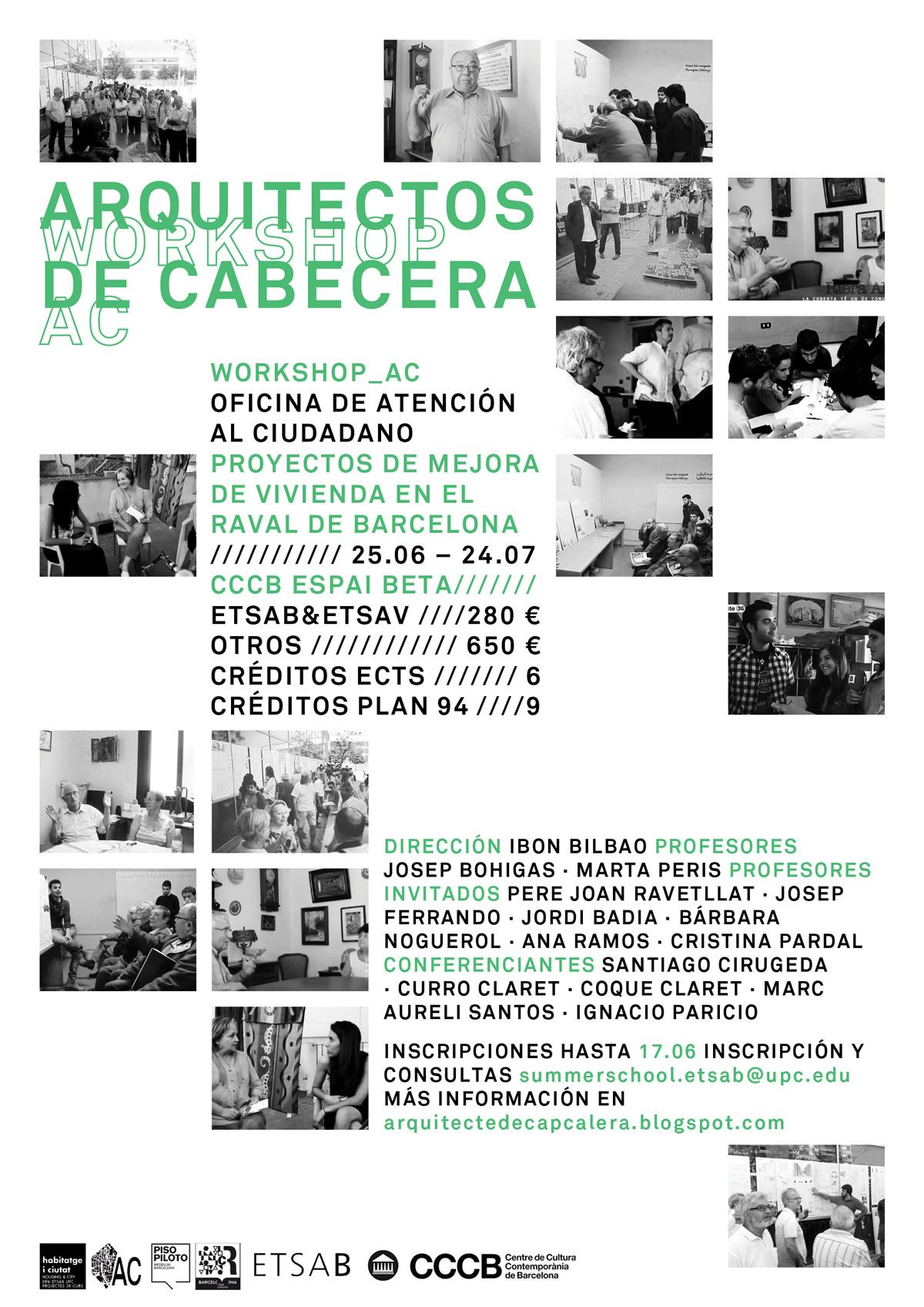 Workshop arquitectos de cabecera oficina de atenci n al for Oficina atencion al ciudadano