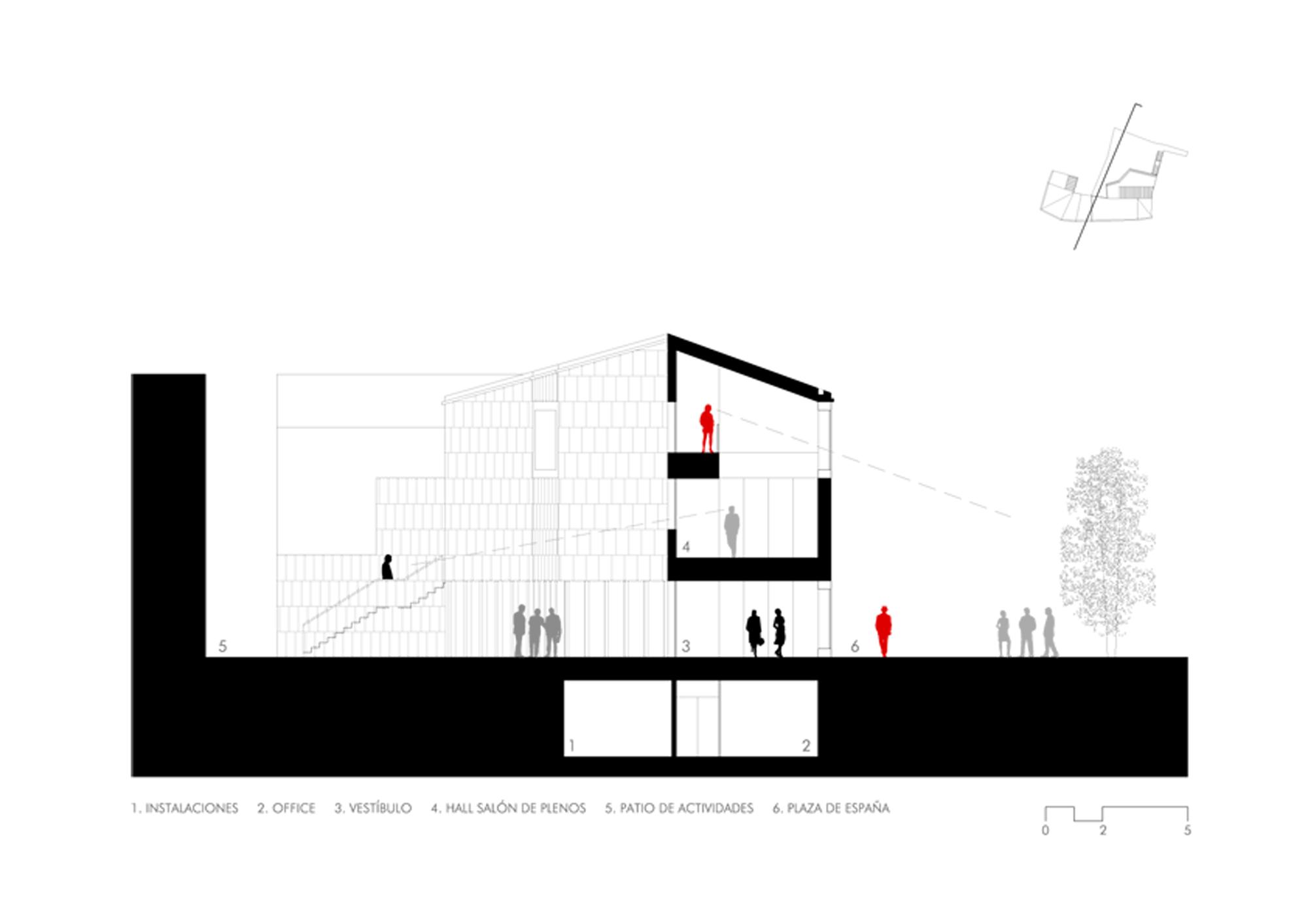 Xavi Vancells Arquitecte Seccion Transversal