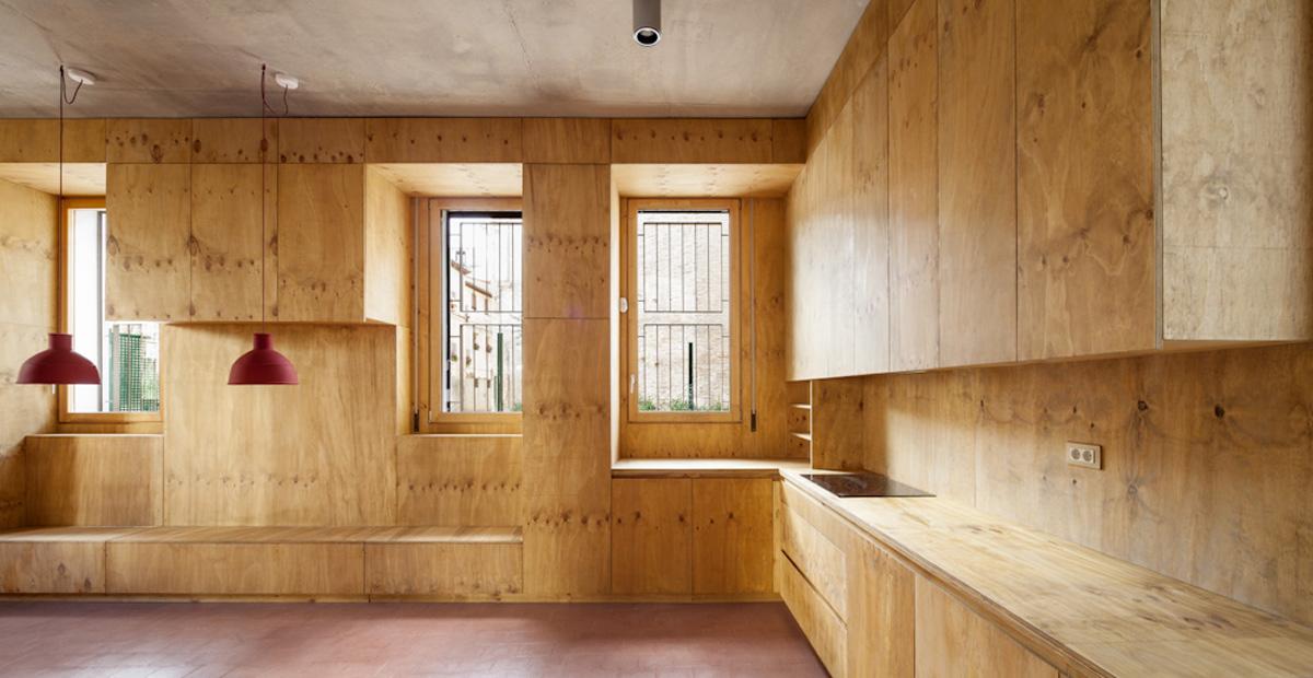Lagula studio ahedo vivienda en tudela hic arquitectura - Casas de madera interiores ...