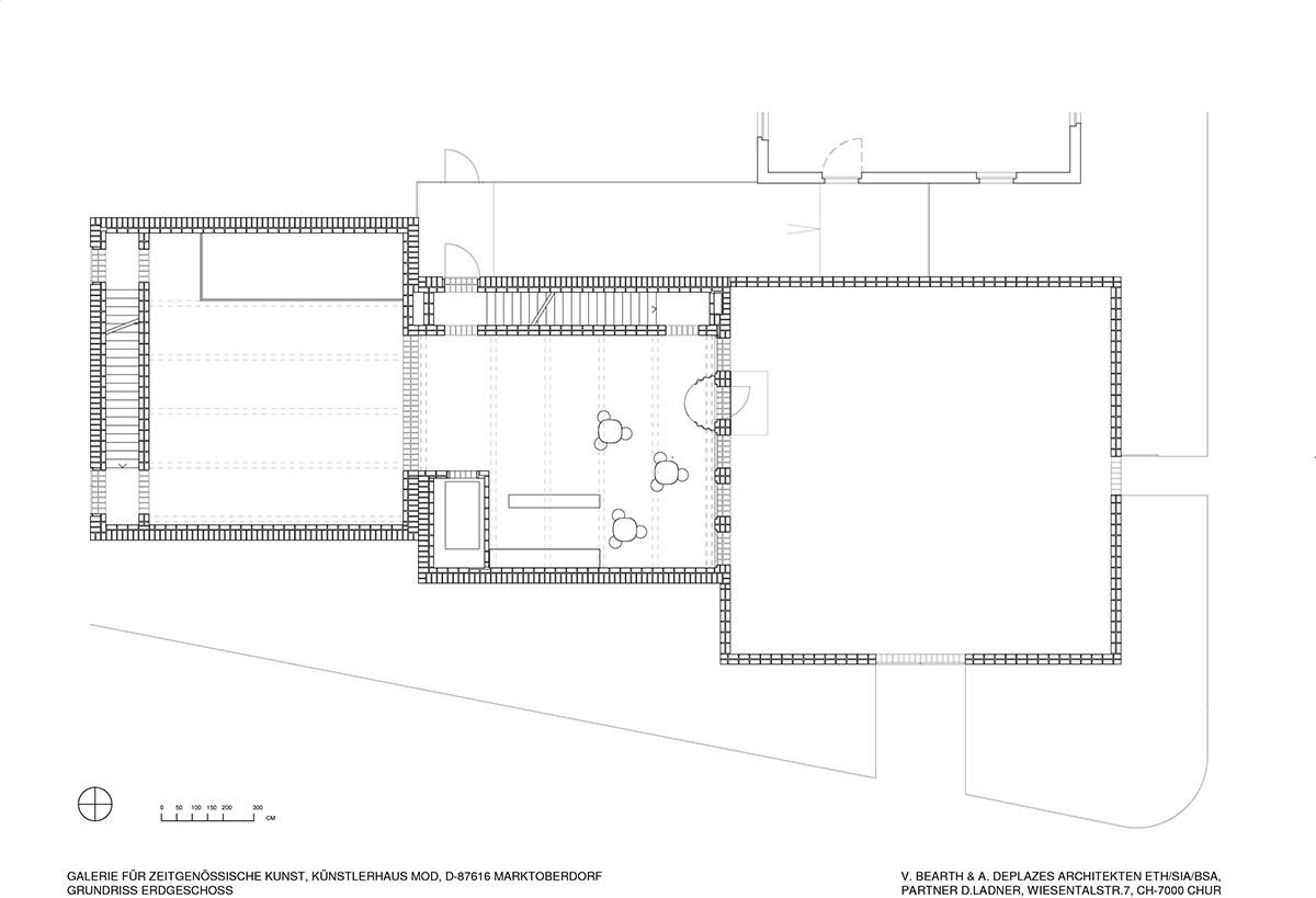 Arquitectura e interiorismo: Bearth & Deplazes > Artists Atelier